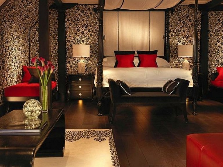 28+ Lovely Romantic Red Bedroom Decorating Ideas for Couples