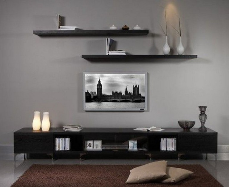 35 Stunning Diy Floating Shelves Living Room Decorating Ideas 01