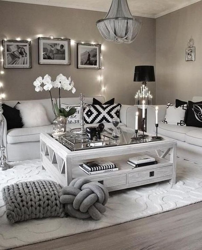 cool black white living room | 43+ Cool Black And White Living Room Design Ideas - Page ...